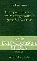 Cover Therapiemotivation im Massregelvollzug gemäss § 64 StGB
