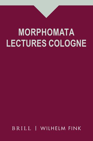 Cover Morphomata Lectures Cologne